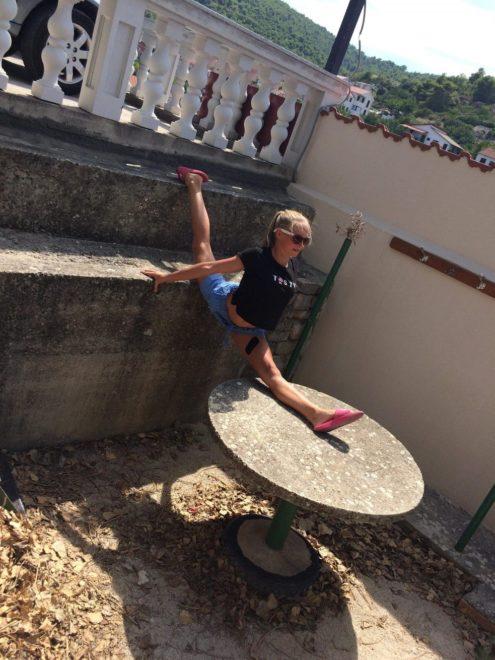Sabina (14 let), moderní gymnastika